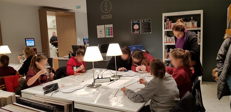 Fabriquer Une Bibliothèque En Carton nuit de la lecture 2019 | bibliothèques du grand autunois morvan